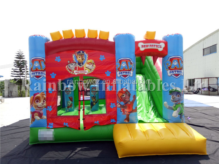 Best Selling Commercial Inflatable Police Dog Castle ,Cheap Inflatable Jumping Castles