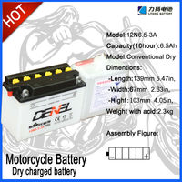 12V 6.5AH Motocicleta/Electric Scooter Batteries,12N6.5-3A batteries