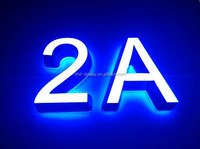 Single color front and back lighting stainless steel channel letter