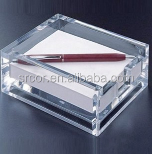 elegant acrylic sticky note box