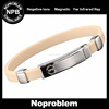 Noprobelm P054 tourmaline germanium golf magnetic bead power sport silicone rubber bracelet