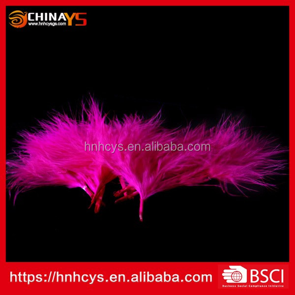 Plumage Supplier Bulk Pink Natural Turkey Feather for decoration
