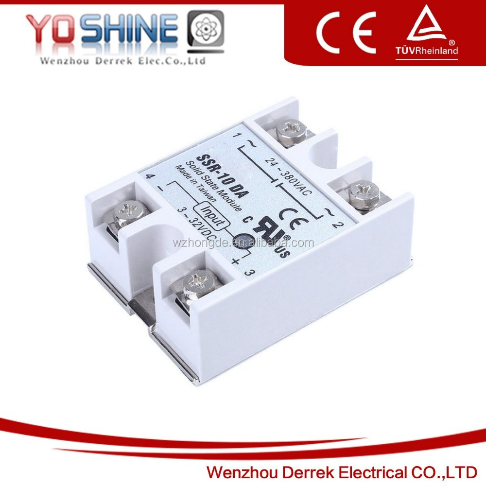 10A DC to AC Single Phase SSR Solid State Relay with OEM Service (SSR-10 DA)
