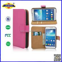 for samsung galaxy grand max, PU Leather Stand Leather Wallet Case for samsung galaxy grand max Laudtec