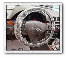 exported Japan disposable ivory plastic car steering wheel