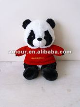 2012Hot!New!super cute plush stuffed baby panda red sweater China panda trendy design Christmas children gift big discount