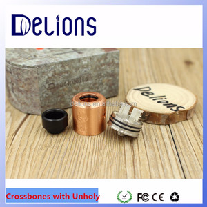 China supplier alibaba express crossbones with Unholy rda kit mech mod 1:1Clone for wholesale hot selling device