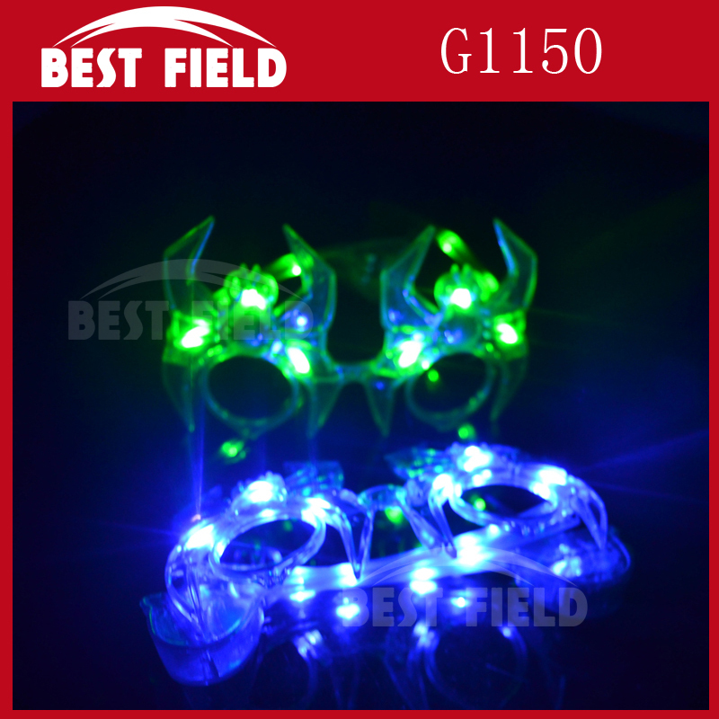 3pcs color spider LED Halloween glasses