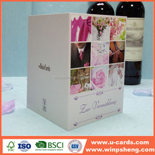 New product romantic popular arabic wedding cards