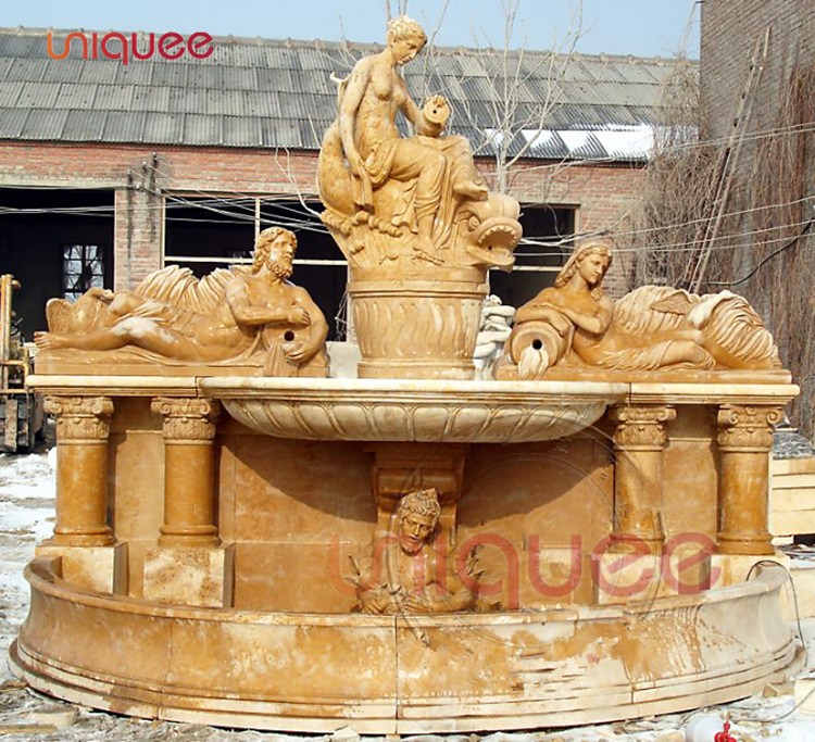 antique greek wall waterfall fountain