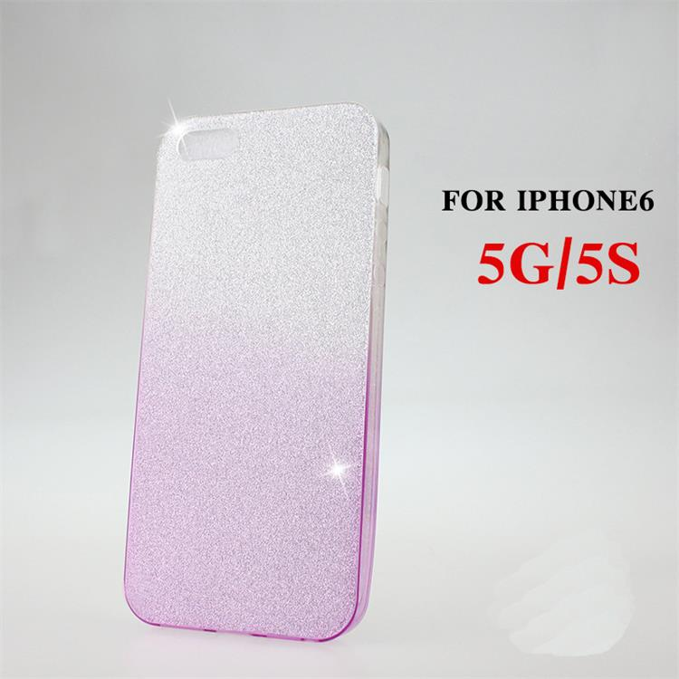 Best Selling Glitter Powder Gradient Color Crystal Clear Back Cover Cell Phone Cases for Iphone 6 6plus 6s