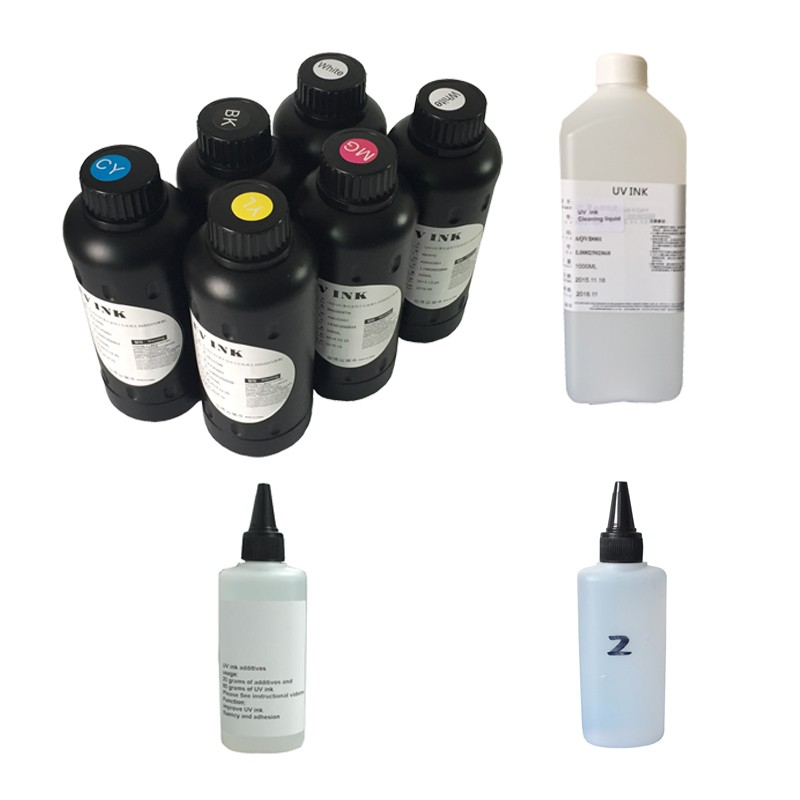 Promotion package set price for First Grade quality UV LED curable ink CMYK W price