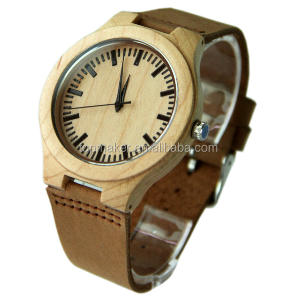2016 New Small MOQ Wood Watches With Your Logo Custom