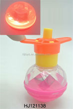 Kids Toys Flashing Top, Wind Up Toy Plastic LED Spinning