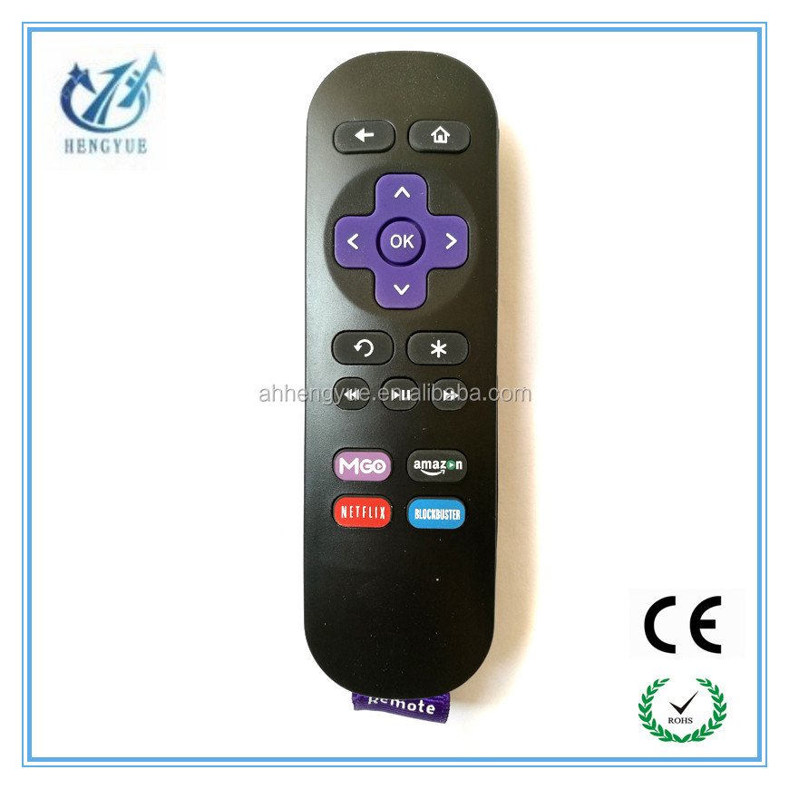 have stock remote control codes For Roku tv box Streaming 2 IR Streaming Media Player Remote Control