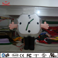inflatable clock, inflatable walking cartoon, inflatable watch costume