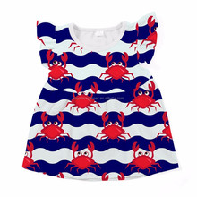 top fashion crab boutique kids wear girls top t shirt tunic top baby shirt