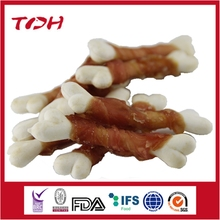 Rabbit Meat wrap calcium bones,pet food manufacture rnatural dog food