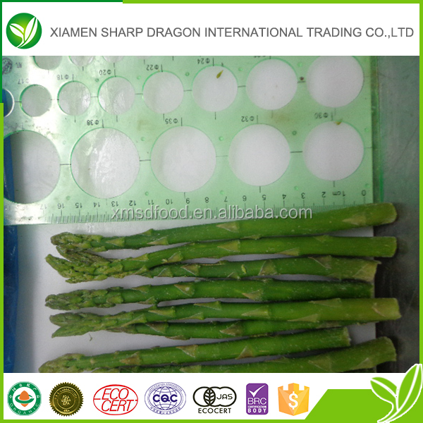 Top selling frozen brittle green asparagus made in China