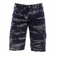 Fashion navy short cargo pants
