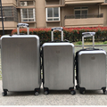 Hard suitcase silver ABS PC Simple Design Travel Trolley luggage 3pc set