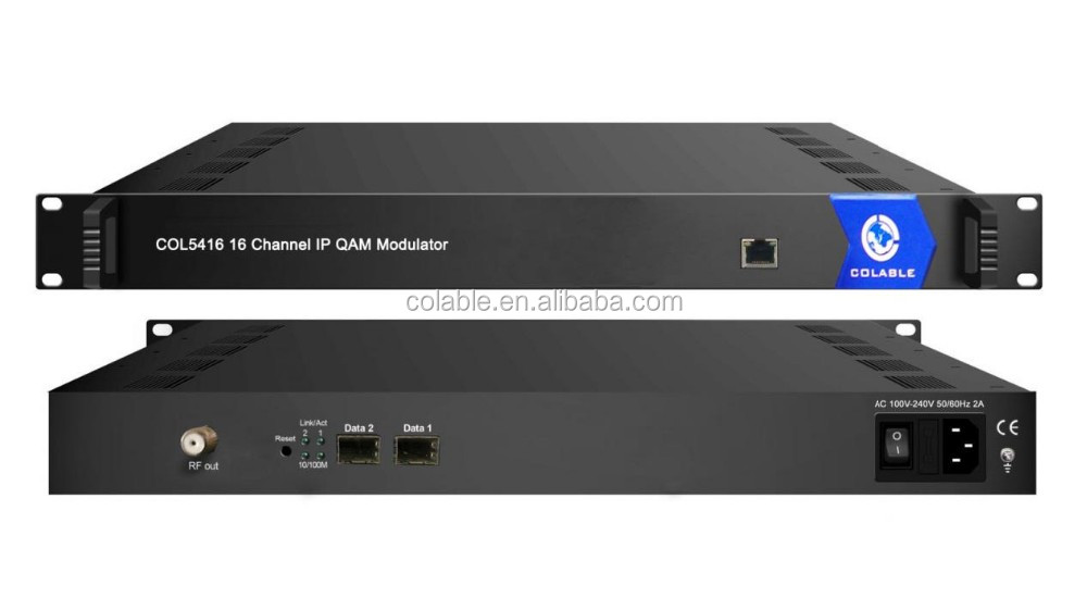 digital catv ip mux-scrambler to qam modulator 16channels COL5416