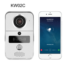 720P H.264 smart IP video door phone / WiFi doorbell with MicroSD fully Duplex Intercom, IR CUT