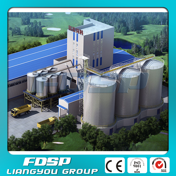 2000 tons steel silo for feed production plant