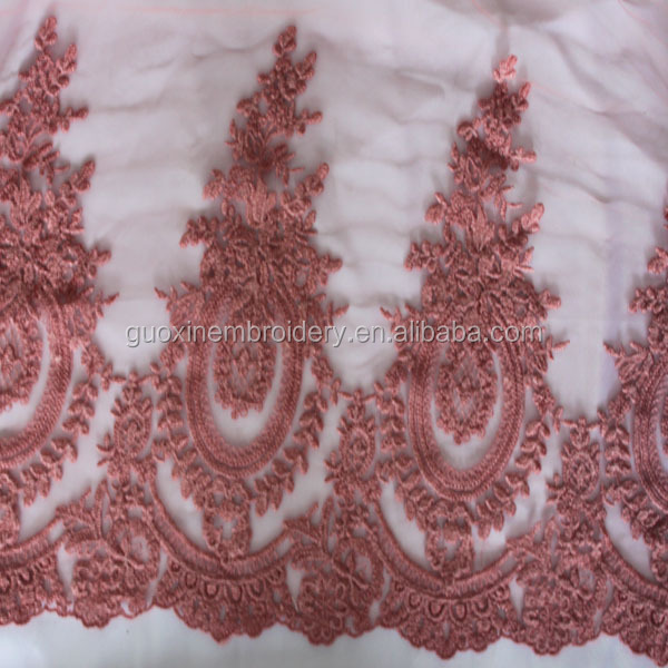2015 new style beaded lace trim/water dissolving lace trimming for wedding dress