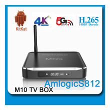 2015 Newest Metal housing Amlogic S812 Quad core M10 tv box 2GB/8GB EMMC Kodi/xbmc newest version addons preinstalled Hot MXQ
