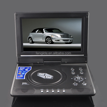 2015 hot sale cheap portable dvd player with tv&sd card port fjd998