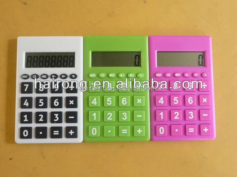 Hairong 8 digits small cute size pocket mini calculator for promotion