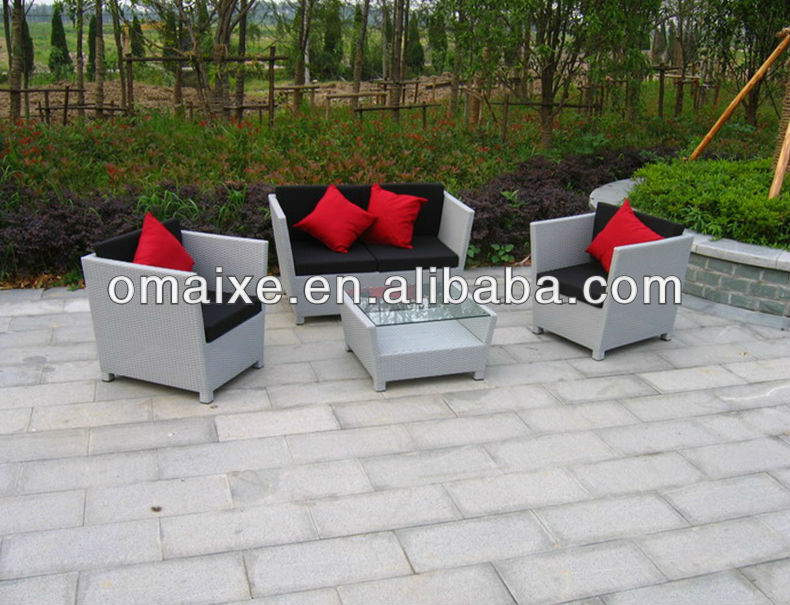cheap price home made outdoor wicker furniture 4pcs sofa set