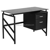 office furniture study cum glass computer table/desk models with prices