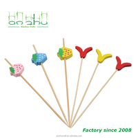 Factory direct selling natural bamboo skewer fruit picking tools BBQ bead picks