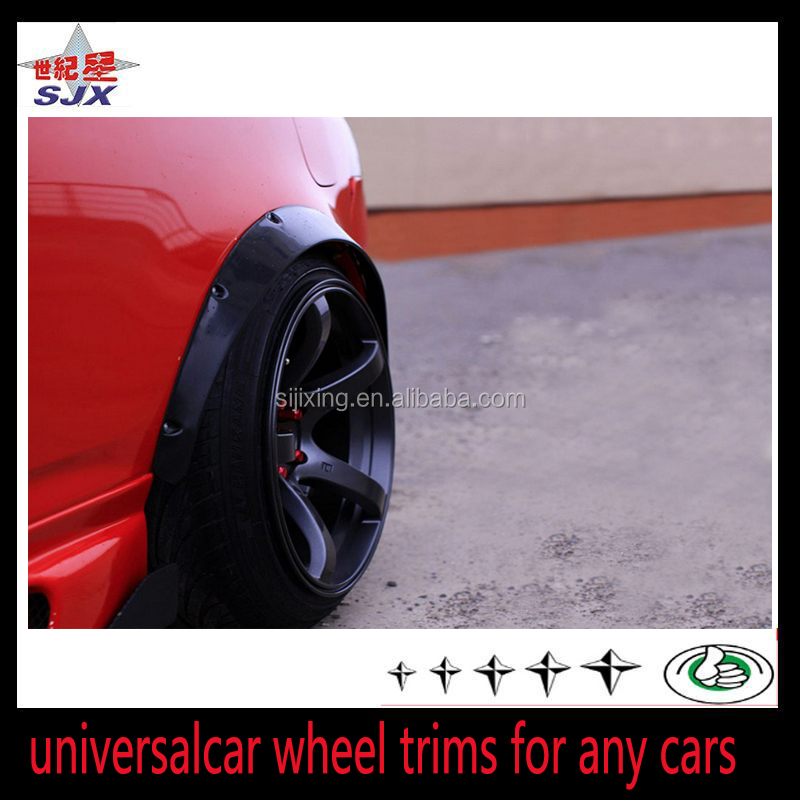 Automobile accessory wheel fender flares for any cars