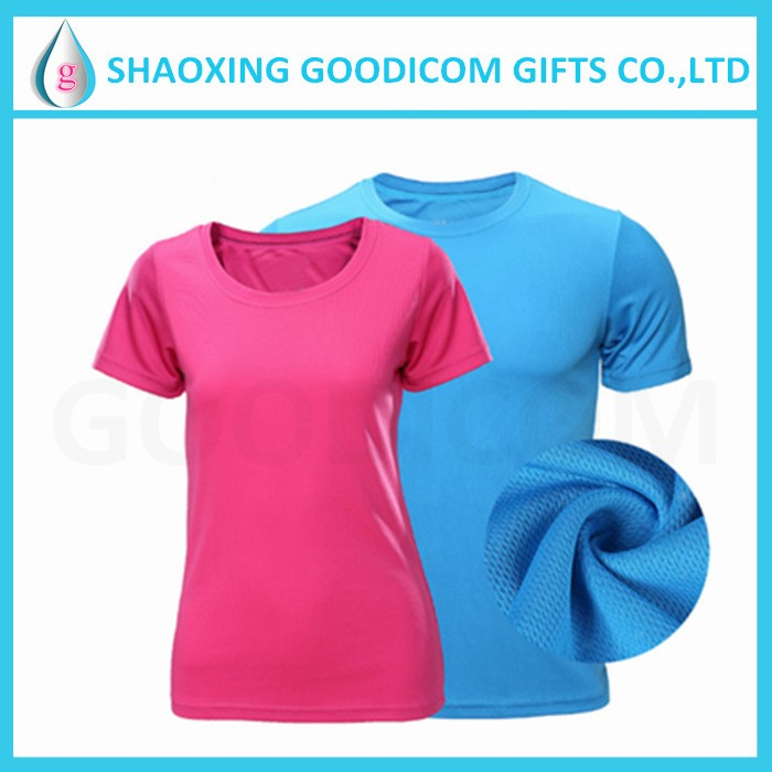 Stylish breathable Gym fitness wear t shirt woman