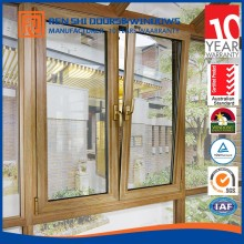 Double pane glazed insulated tilt and turn mill finish aluminum window for residential/commercial