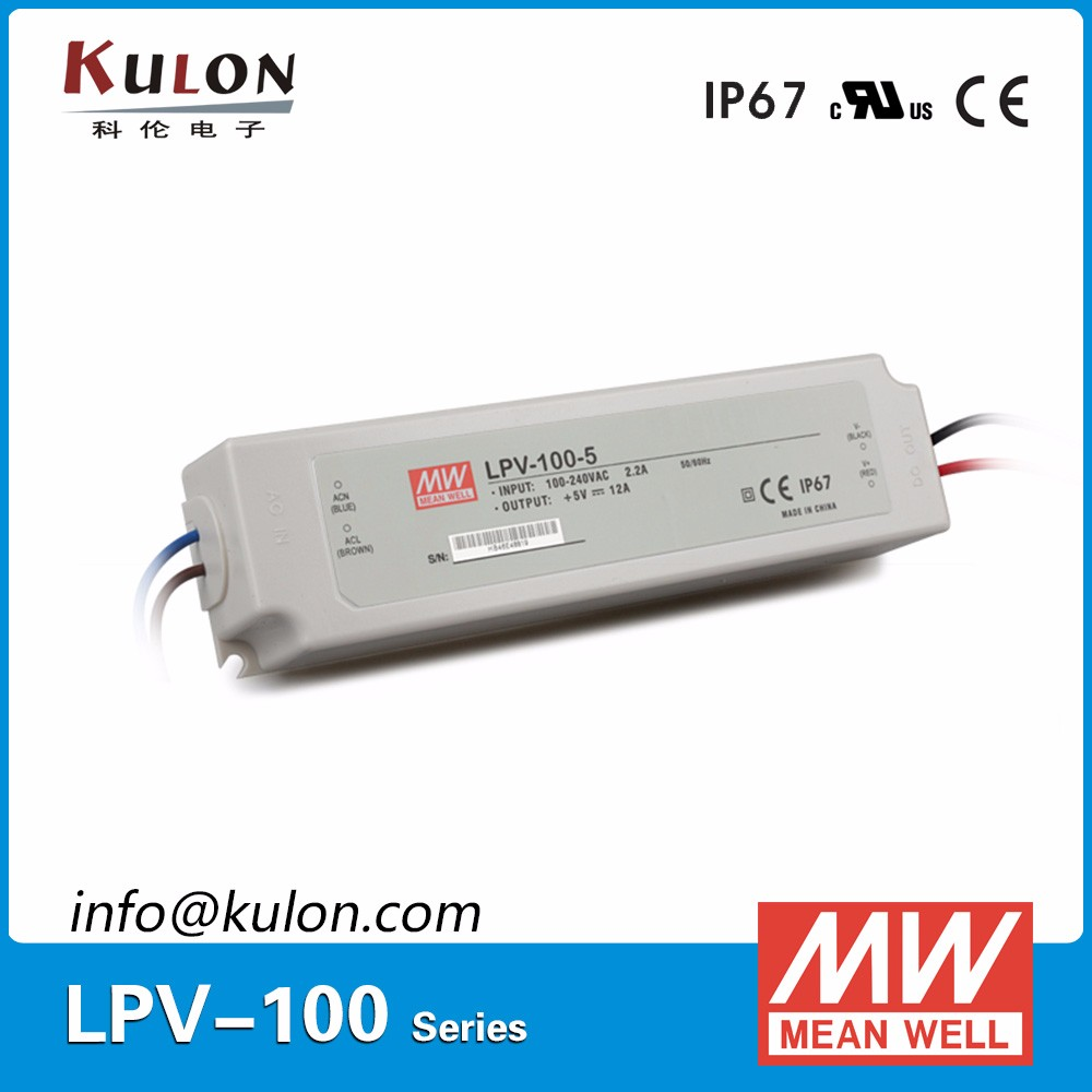 Meanwell LPV-100-15 constant voltage IP67 AC/DC 15V 100W Power Supply
