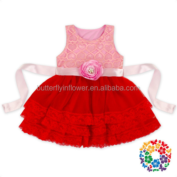 2017 Kids Birthday Dresses Girl Princess Dress Sleeveless Tulle Fashion Dress