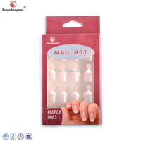 fengshangmei nail art handle acrylic artificial french nail tips
