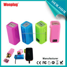 2014 newest portable 4pcs dry free sample good reputaion fashion colorful big power bank for lenovo s920
