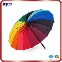 clear and bullet proof of rainbow color Umbrella