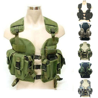 Camouflage Tactical Vest Military Jacket Woodland