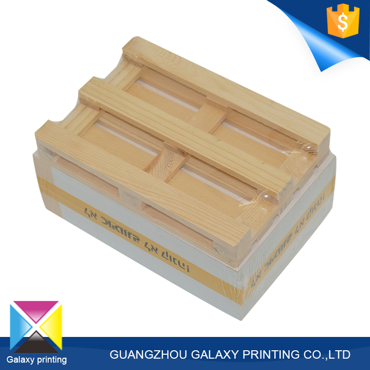 Custom branded logo cube container trending sticky memo notepad with wooden pallet