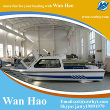 High quality good looking fishing boat WH580 with half cabin boat for sale
