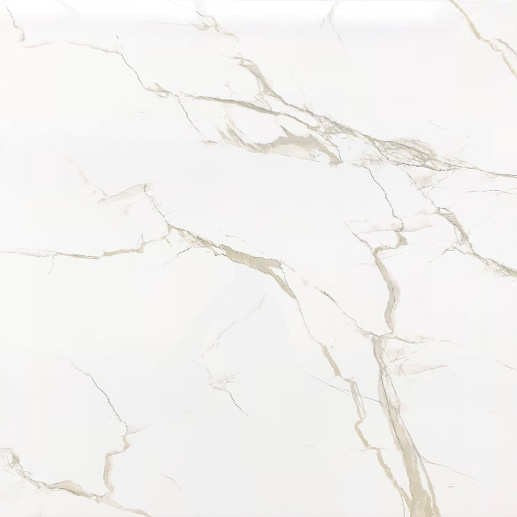 Calacatta Bianco Gold White Marble Slab Porcelain <strong>Tiles</strong> 24x24 60x60