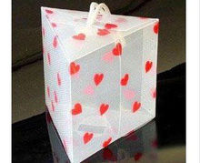 Hot gift boxes heart shaped clear plastic