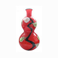 Calabash shape red color Murano glass vase