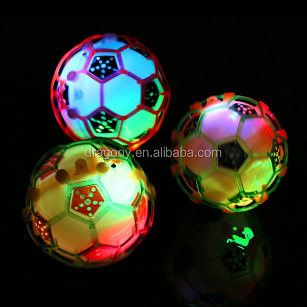 hot sell crazy lightening funny game self music flashing light led rubber high light up bouncing ball